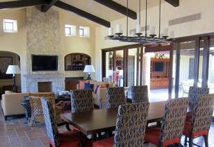 Golf villa living & dining rooms